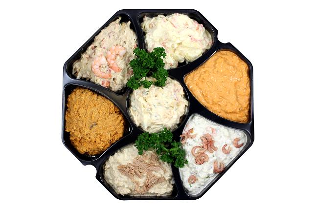 Feestelijke saladeschotel (vul bij 'aantal' het aantal schotels in)